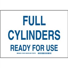 Full Cylinders Ready For Use Signs