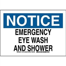 Notice - Emergency Eye Wash And Shower Signs