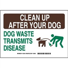 Clean Up After Your Dog Dog Waste Transmits Disease Signs
