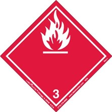 International Wordless Flammable Liquid Labels