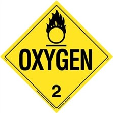 Oxygen Worded Placards
