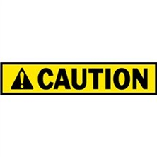 Caution, Blank (Header Only)