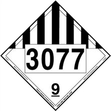 Miscellaneous Dangerous Goods 4 Digit Placards