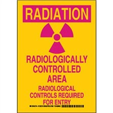 Radiation Radiologically Controlled Area Radiological Controls Required For Entry Signs