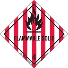 Worded Flammable Solid Labels