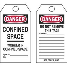 Confined Space Workers in Confined Space Tags