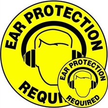 Ear Protection Required Signs