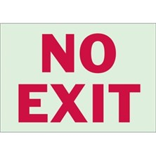 No Exit (Red on Glow-In-The Dark With Large Text)
