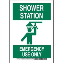 Shower Station Emergency Use Only Signs