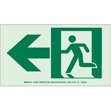 Running Man Picto Only (With Left Arrow) Signs