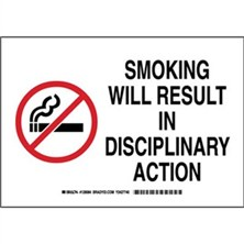 Smoking Will Result In Disciplinary Action Signs