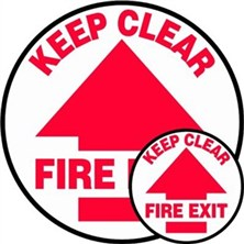 Keep Clear Fire Exit Signs