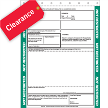 Shipping Papers & Forms Clearance