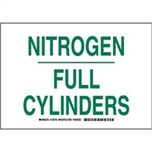 Nitrogen Full Cylinders Signs