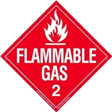 Flammable Gas Worded Placards