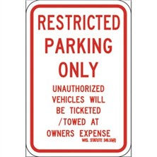 Restricted Parking Only