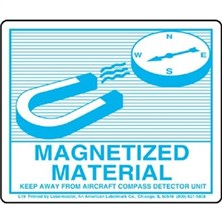 Magnetized Material Labels