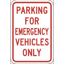 Parking for Emergency Vehicles Only