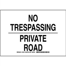 No Trespassing Private Road Signs