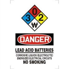 NFPA® Signs -  Lead Acid Batteries No Smoking