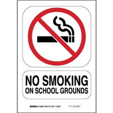 No Smoking On School Grounds Signs