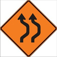 2 Lane Double Reverse Curve to Right Symbol