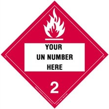 Personalized Flammable Gas Placards