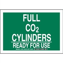 Full Co2 Cylinders Ready For Use Signs