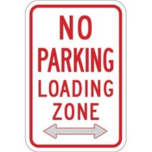 No Parking Loading Zone (With Two-Way Arrows)