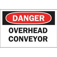 Danger, Overhead Conveyor