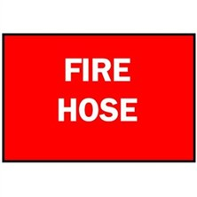 Fire Hose (White on Red)