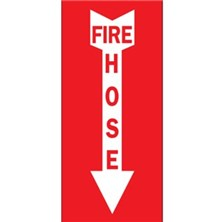 Fire Hose (Red on White With Arrow)