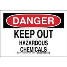 Danger - Keep Out Hazardous Chemicals Signs