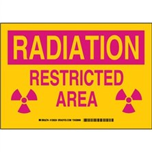 Radiation Restricted Area Signs