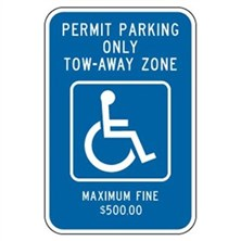 Permit Parking Only Tow-Away Zone