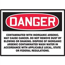 Danger Contaminated with Inorganic Arsenic Signs