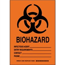 Biohazard Infectious Agent___ Entry Requirements ___ Contact ___ Phone ___ Signs
