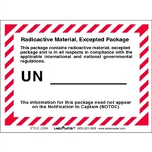 Radioactive Material Excepted Package Labels