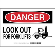 Danger - Look Out For Fork Lifts Signs