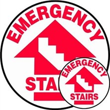 Emergency Stairs Signs
