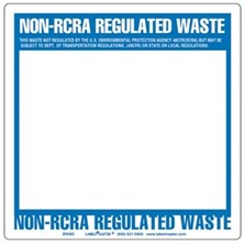 Non-RCRA Regulated Waste Labels Blank, Full Open Box