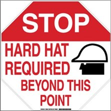 Stop Hard Hat Required Beyond This Point Signs