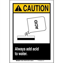 Caution - Always Add Acid To Water Signs