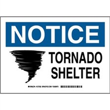 Notice - Tornado Shelter Signs