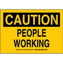 Caution - People Working Signs