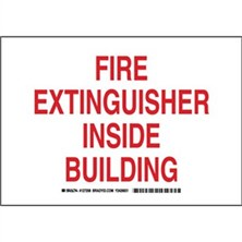 Fire Extinguisher Inside Building Signs
