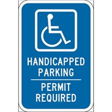 Handicap Parking Permit Required
