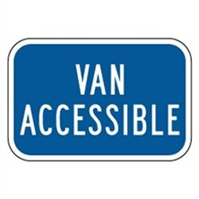 Van Accessible (Blue, Tall)