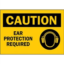 Caution, Ear Protection Required