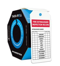 Tags By- The Roll: Fire Exstinguisher Inspection Record